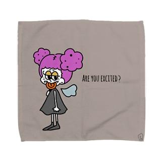わくわくしてる? Towel handkerchiefs