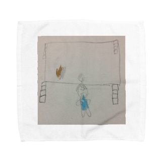 MCぴろしきが宿泊学習でカレーを作った時の様子 Towel handkerchiefs