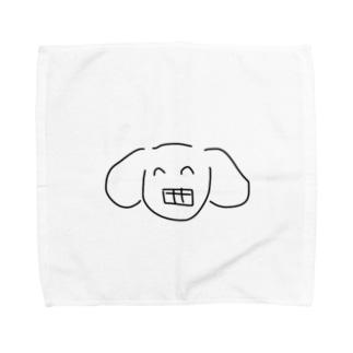 ガミースマイルいぬうさぎ Towel handkerchiefs