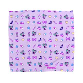 あぁちゃまのゆめかわ8bit パープル Towel handkerchiefs