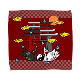 四尾*妖*満月の夜 Towel handkerchiefs