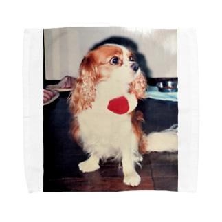 キャバリアキングチャールズスパニエル(retro) Towel handkerchiefs