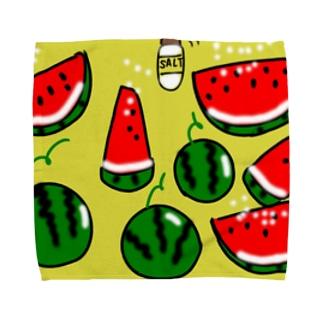 生産者さん応援シリーズ(すいか) Towel handkerchiefs