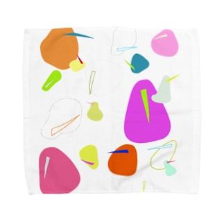 キウイバードたち Towel handkerchiefs
