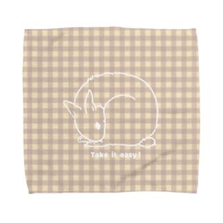 おだやかなうさぎ Towel handkerchiefs