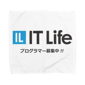 IT Life - プログラマ募集ver Towel handkerchiefs