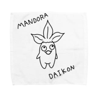 マンドラダイコン モノ Towel handkerchiefs