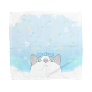 ブルーソーダ☆おまめ Towel handkerchiefs