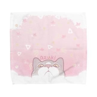 ピンクソーダ☆あずき Towel handkerchiefs