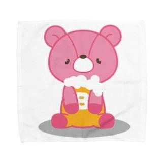 ビールベア(おすわり) Towel handkerchiefs