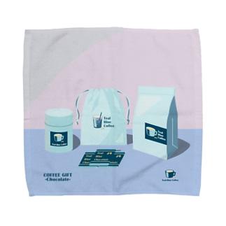 COFFEE GIFT -Chocolate- PURPLE Ver. Towel Handkerchief