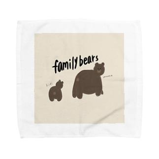 熊のおやこ Towel handkerchiefs