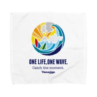 One life, One wave.(カラー) タオルハンカチ