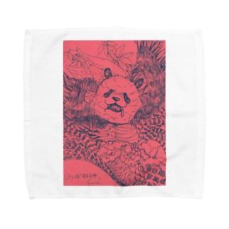 邪神パンダさん Towel handkerchiefs