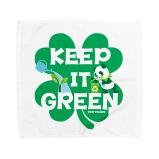 エコ・パンダ ECO PANDA グリーン大作戦 Tシャツ green Towel handkerchiefs