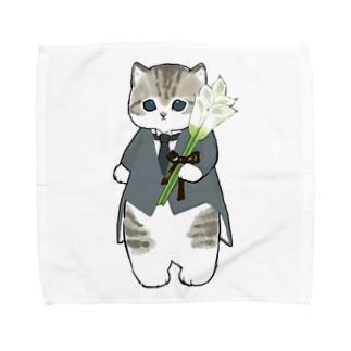 花婿にゃん Towel handkerchiefs