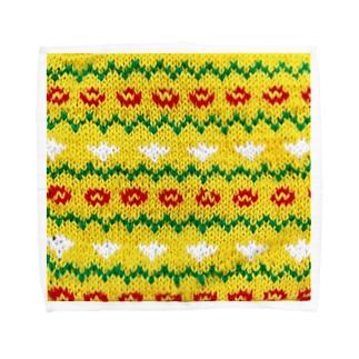 黄色とお花の編みもの Towel Handkerchief