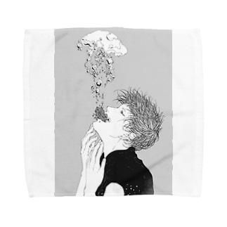 酸素 Towel handkerchiefs