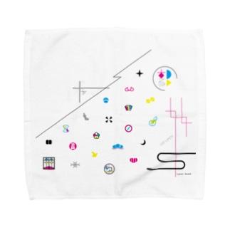 廓模様 Towel handkerchiefs