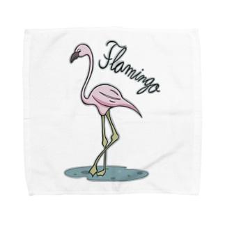 フラミンゴ Towel handkerchiefs
