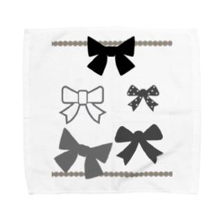リボンが好き Towel handkerchiefs