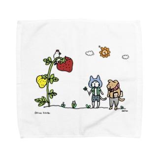 おおきないちご 1_出会い編 Towel handkerchiefs