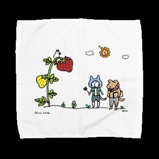 ほっかむねこ屋のおおきないちご 1_出会い編 Towel handkerchiefs