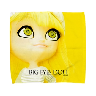BIG EYES DOLL yellow Towel handkerchiefs