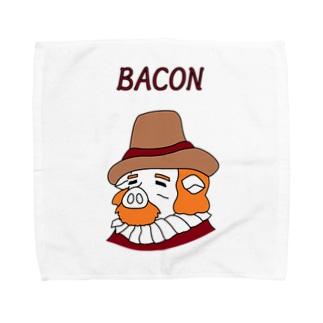 ブタの哲学者べ~こんさん Towel handkerchiefs