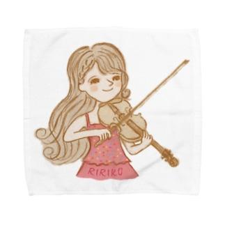 りりこグッズトップス Towel handkerchiefs