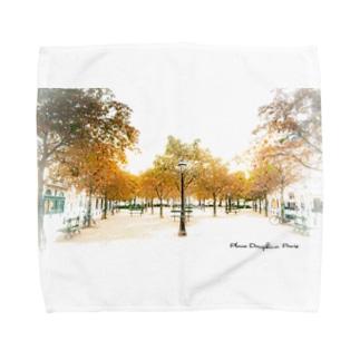 パリの公園 Towel Handkerchief