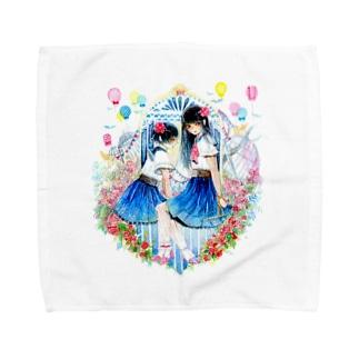 秘密の花園 Towel handkerchiefs