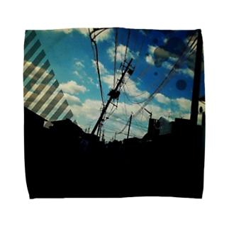 前田卓磨 グラフィックB柄 Towel handkerchiefs