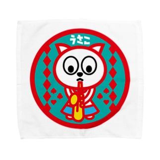 パ紋No.2976 うさこ Towel handkerchiefs