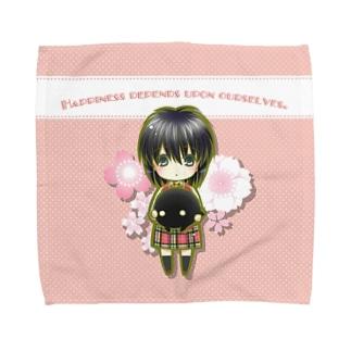 明×暗SCRAMBLE@桜 Towel handkerchiefs