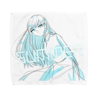 SUMMER・ガール Towel Handkerchief