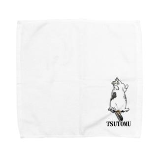 猫のTSUTOMUくん Towel handkerchiefs