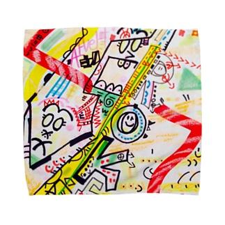 人力火の輪車&東山のぐるんぐるん山車 Towel handkerchiefs