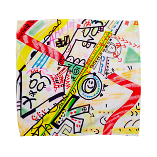 coppepan_brothersの人力火の輪車&東山のぐるんぐるん山車 Towel handkerchiefs