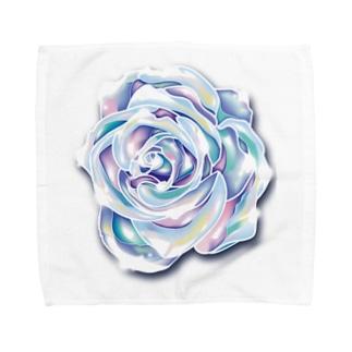 虹色のバラ Towel handkerchiefs