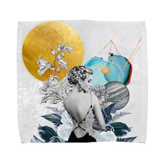 A Lady Turning Around Towel Handkerchief