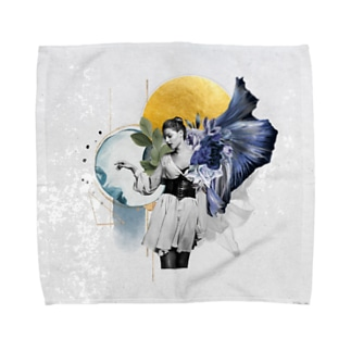 Watercolor Tactile Towel Handkerchief