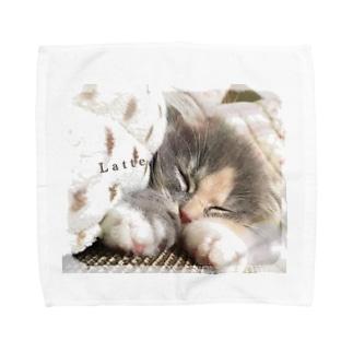 お昼寝Latte Towel handkerchiefs