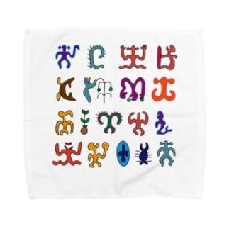 ロンゴロンゴ2(彩色) Towel handkerchiefs