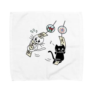 たまとクロと風鈴 Towel Handkerchief