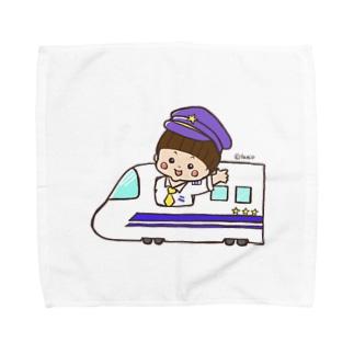 ゆうくんの乗り物シリーズ 新幹線 Towel Handkerchief