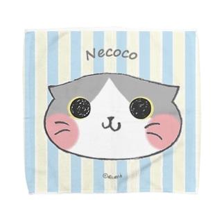 ねここ✴︎はんかち(すこてぃっしゅ) 猫 Towel handkerchiefs