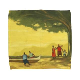 午後のパドリング Towel handkerchiefs