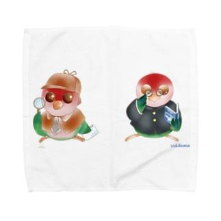 探偵&学生いんこ Towel handkerchiefs