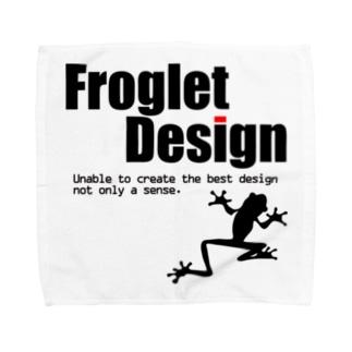 Froglet Design Towel handkerchiefs